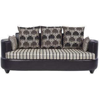 Arra Polar Sofa Set 3+2+1 Black
