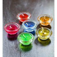 Set Of 6 Colourful Diya Gel Candles