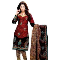 Miraan Multicolor Cotton Printed Dress Material