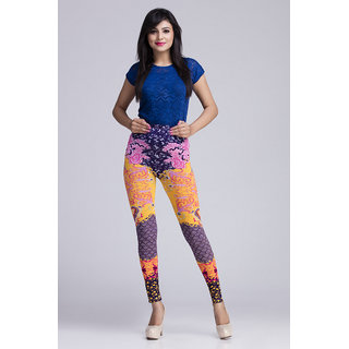 Toscee Digital Printed Multicolor Ethnic Navy Leggings