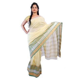 Fashion dove fd46 Cream color Cotton Stylish saree