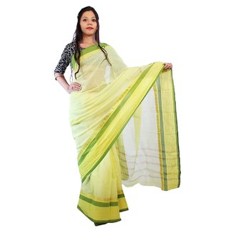 Fashion dove fd47 Cream color Cotton Stylish saree