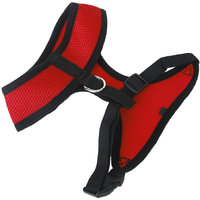 Pet Dog Soft Mesh Harness Clothes M - Red