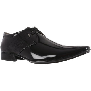Benin Black Men Office Footwear Lace