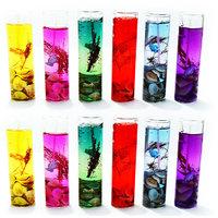 Big Shot Gel Candle Glass 11cm Multicolor Set Of 12