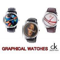 Jack Klein - pack of 3 super graphic watches