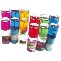 Shot Gel Candle Glass 8cm Multicolor Set Of 12