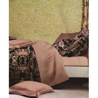 ValtellinaAbsract Print 1 Double Bedsheet  2 Pillow Covers(FLTN-007)