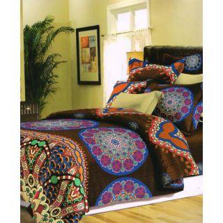 ValtellinaAbsract Print 1 Double Bedsheet  2 Pillow Covers(FLTN-011)