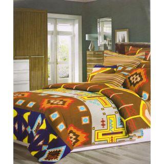 ValtellinaAbsract Print 1 Double Bedsheet  2 Pillow Covers(FLTN-012)