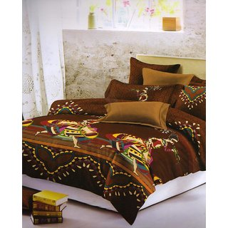 ValtellinaAbsract Print 1 Double Bedsheet  2 Pillow Covers(FLTN-013)