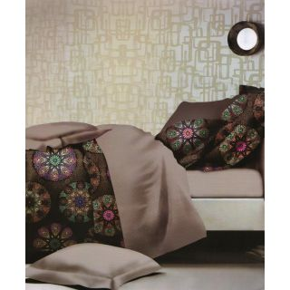 ValtellinaGraphic Print 1 Double Bedsheet  2 Pillow Covers(FLTN-016)