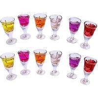 Wine Glass Shape Gel Candle Set Of 12