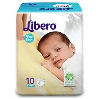 Libero New Born Baby Diaper Size XS - (10 Pieces)