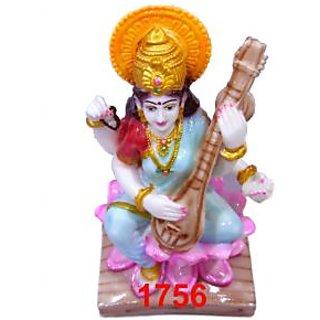 Saraswati God Statue Religious Handi Craft Gift 1756