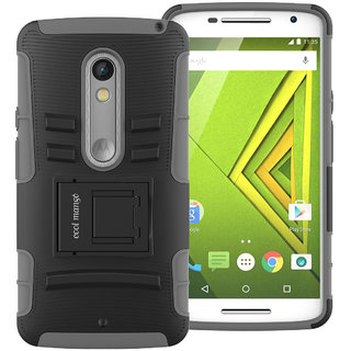 Cool Mango Moto X Play Tru Armor Shock Proof Cover  Dual Protection Case for Moto X Play   Grey