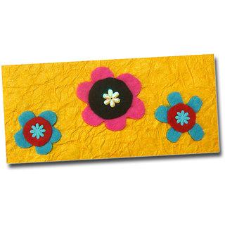Designer 3 Feld flowers Money gifting Envelopes Handmade Lifafa