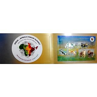 Innovative Miniature Sheet of 3rd India-Africa Forum Summit