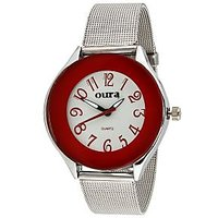 Oura Analog Red Dial Trendy Womens  Watch- Lrch-44