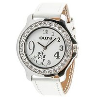 Oura Analog White Dial Womens  Watch- Lwsst-63 Princess
