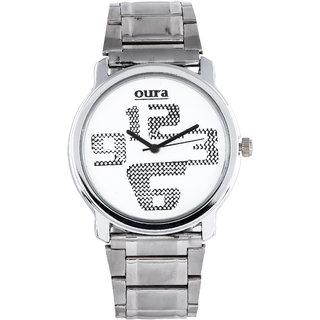 Oura Silver Wwc-24 Analog White Dial Men S Watch