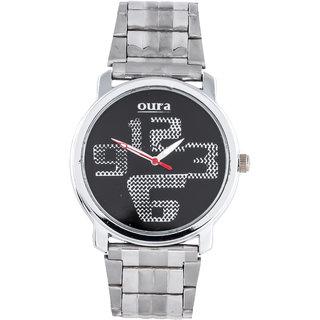 Oura Silver Wbc-31 Analog Black Dial Men S Watch