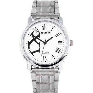 Oura Silver Wwc-26 Analog White Dial Men S Watch