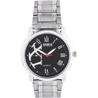 Oura Silver Wbc-35 Analog Black Dial Men S Watch