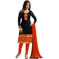 Varanga Black  Orange Designer Salwar Kameez With Dupatta KFMGD9011
