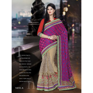 Ria viscose embroidered saree