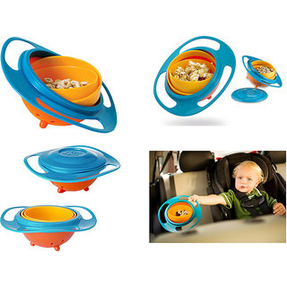 Children Kid Baby Toy Universal 360 Rotate Spill Proof Gyro Bowl Dishes