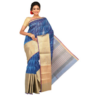 Sangam Chanderi Cotton Saree KSSSK010BU