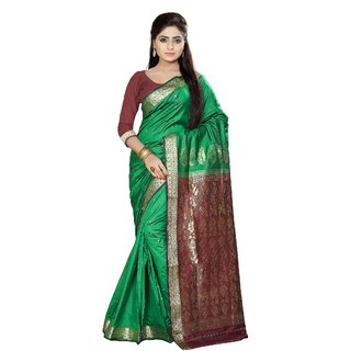 Fabdeal Green Colored Art Silk Printed Saree AAFP3SR2004MR
