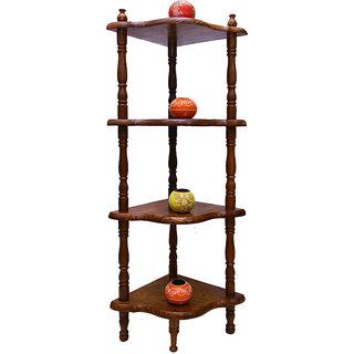 Mavi Wooden 4 Shelve Corner Stand Rack-MCS-957