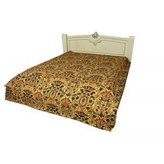 Kantha Gudari Ekat Design Quilt Queen Size Ralli Bedcover(BHI-101)