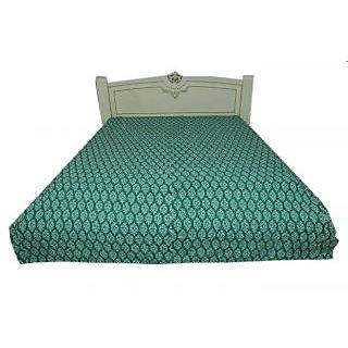 Kantha Gudari Indian Handmade Geometrical Design Queen Size Bedcover(BHI-107)