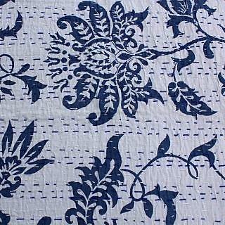 Kantha Quilt Queen Size Gudari New Ekat Design Bedcover(BHI-114)