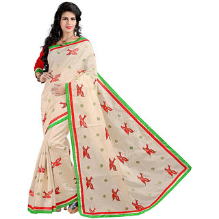 Alberts Embriodered Assam Silk Silk Sari 3021