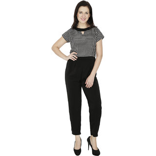 Svt Ada Collections Lycra Black Color Trendy Jumpsuits