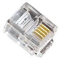 RJ 11 LINE CONNECTORS (DOUBLE LINE) - PACK OF 25 PIECES