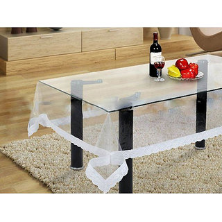 Transparent center table cover by Desi Karigar