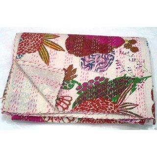 Jaipuri Kantha Quilt/ Kantha Quilt Textile/ King Kantha Nakshi Quilt/ Embroidery