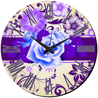 Mesleep Flower Wall Clock With Glass Top
