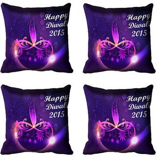 meSleep Happy Diwali 2015 Cushion Cover (16x16)