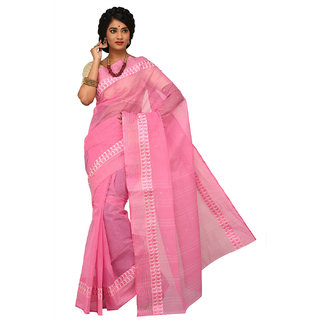 Sangam Kolkata  Handloom Cotton Saree KSSSK035LPK