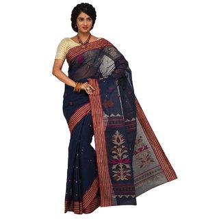 Sangam Kolkata  Handloom Cotton Saree KSSSK041BL