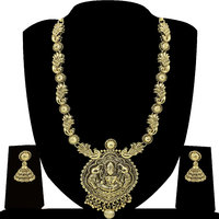 Zaveri Pearls Golden Alloy Gold Plated Necklace Set For Women