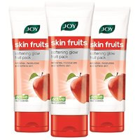JOY Skin Fruits Softening Glow Fruit Face Pack -180 ml (Pack of 3 x 60 ml)