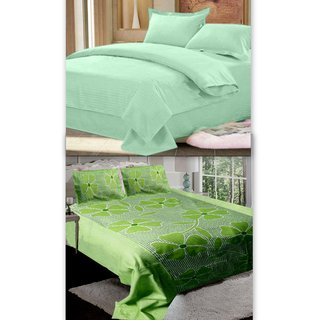 Attractivehomes beautiful cotton double bedsheet