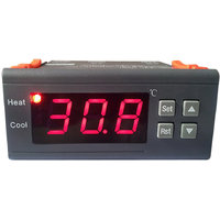 12V Digital Lcd Display Temperature Controller Thermostat With Sensor Mh1210A